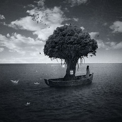 Fantasy trip // Viaje fantstico (manurs.) Tags: trip travel viaje sea white house inspiration black tree blanco girl lady photomanipulation photoshop arbol design boat mar casa barca barco foto chica y graphic surrealism negro creation fantasy fantasia montaje retouch diseo grafico surrealismo retoque fotografico manurs