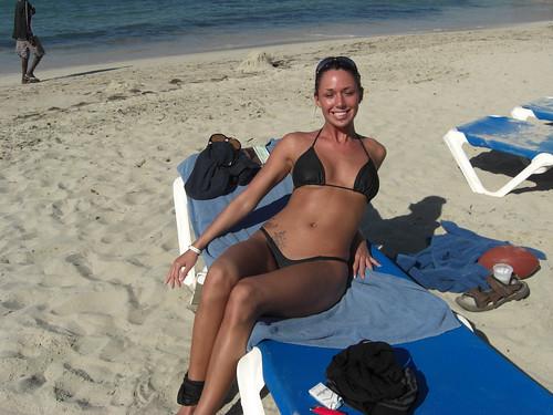 Naughty girls on the beach keep the