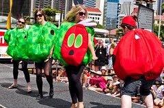 Hungry Hungry Caterpillar (Lazellion) Tags: newzealand people fashion costume dancing dressup sigma competition trainstation wellington runway metz sevens 7s centralcity 2011 nzi justpentax