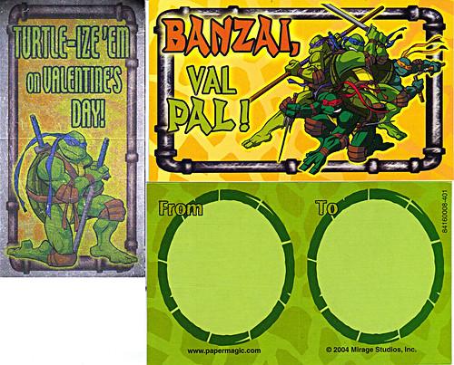 """PAPER MAGIC GROUP :: """"Teenage Mutant Ninja Turtles"""" - Valentines iii (( 2004 ))"""