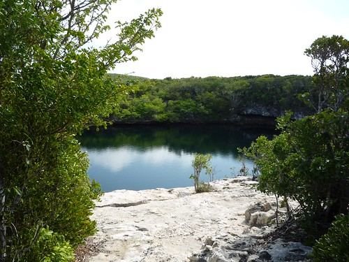 Blue Hole from ledge