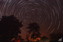 Round, Round and Round they go, Like little diamonds... they glow. (2k Photography) Tags: longexposure light sky house tree home night canon stars eos star village farm trace trails shootingstar 2k kissx2 unholyshit ~2|{~ pushpdeeppandey nomoonthatnight