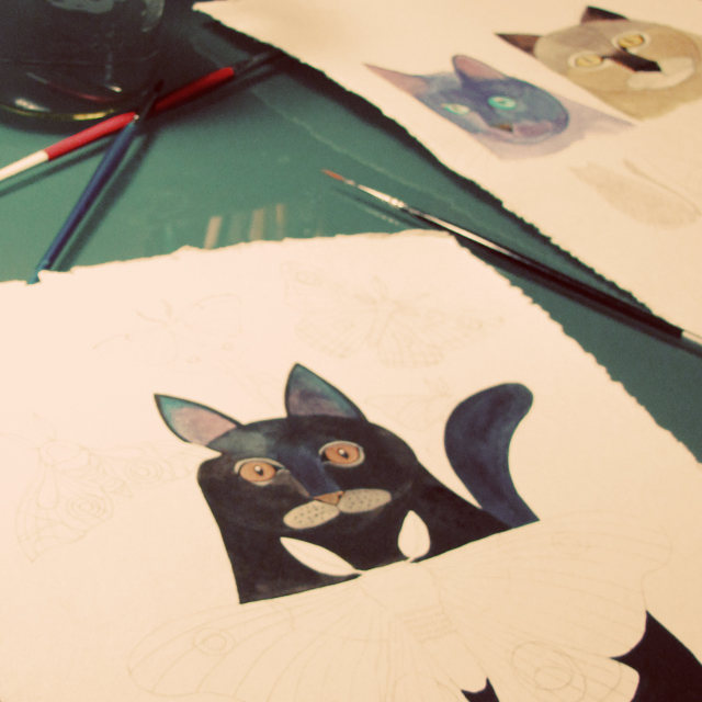 Kitties work in progress