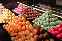 Les macarons! (akashgoyal) Tags: vacation paris france color dessert europe windowdisplay stgermain valentinesday flavors bakedgoods macaron chocolatier