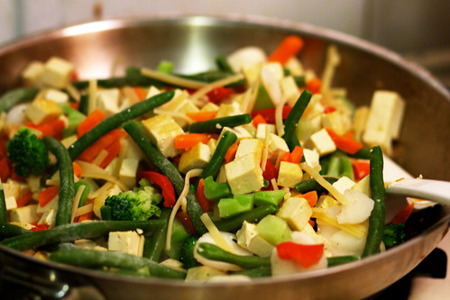 Tofu and Stir Fried Vegetables