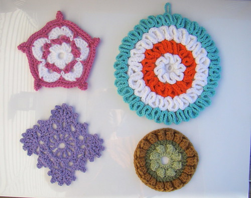 Crochet hotpads and potholders