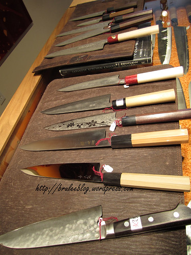A bunch of the knives I was considering.