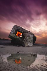 SparkSunset! ( David.Keochkerian ) Tags: sea mer seascape france beach de steel manual sparks plage dri fer picardie blockhaus paille blending laine somme woll dacier