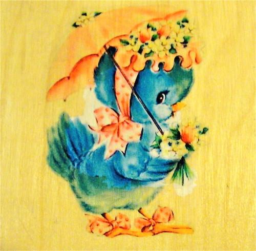 Blue Birdie Crib Decal