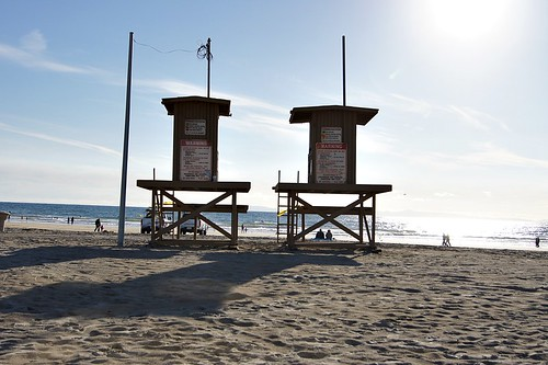 Beach: Lifeguard towers