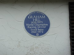 Photo of Graham Hill blue plaque