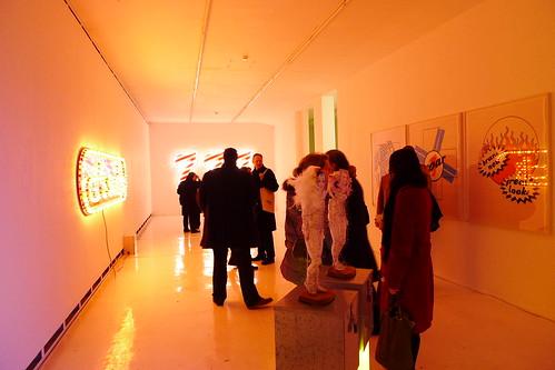 Neon Pop Ausstellung bei Atelierfrankfurt. Februar 2011