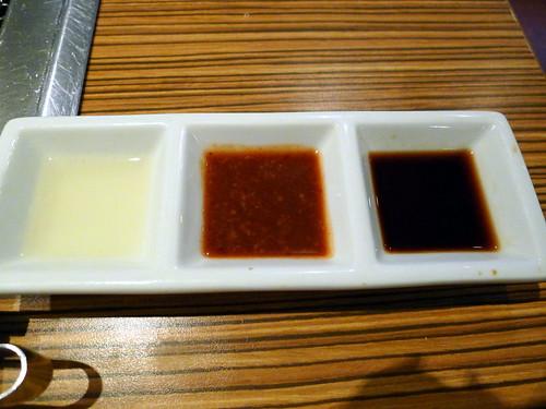 「原燒」- 三種沾醬