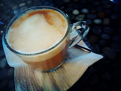 """Flat White"" at Espressoul, EFG Building"