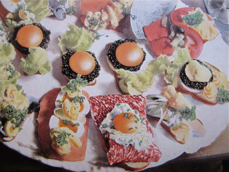 Vintage Danish smørrebrød