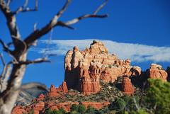 Along the trail (kstraw2) Tags: blue red arizona tree out focus rocks deep sedona az foreground nikond80 kstraw2