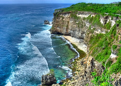 Vertical feast (sydbad (out of office)) Tags: travel blue sunset sea sky bali sun color art beach nature water beautiful yellow vertical clouds landscape fun photography photo scenery asia day view photos sony great drop dscv1