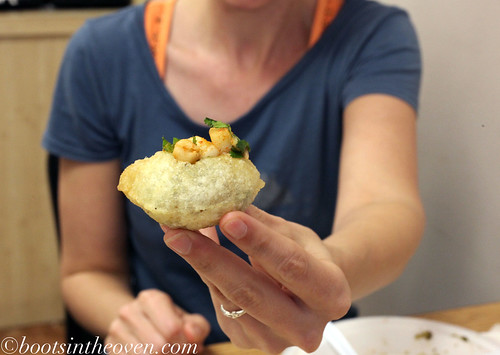 Erin and a Pani Puri