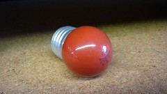 CISSELL MI30 Red Pilot Light Bulb 7.5 Watt 120 volt