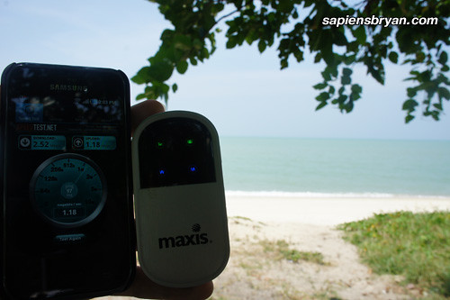 Maxis Wireless Broadband Speed At Teluk Bahang Beach