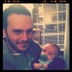 Nothing sexier than a man with a baby... Too bad it isn't ours!