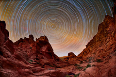 Valley of Fire Star Trails (Harold Davis) Tags: valleyoffire bravo harolddavis sca nevada startrails earthandspace Astrometrydotnet:status=failed competition:astrophoto=2011 Astrometrydotnet:id=alpha20110388753110