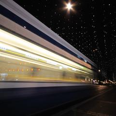 lucy in the sky with a tram (Toni_V) Tags: christmas longexposure motion blur schweiz switzerland lucy suisse tripod zurich tram zrich bahnhofstrasse 2010 d300 sigma1020mm paradeplatz vbz dsc6562 101128 toniv mygearandme