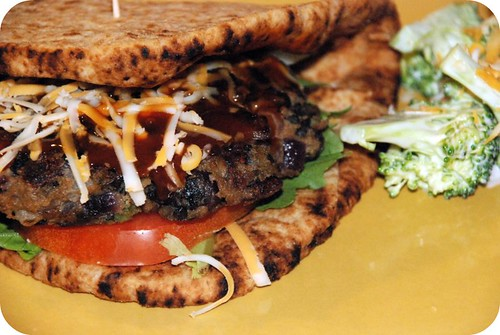 Black Bean and Portobello Burger