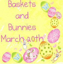 baskets and bunnies button
