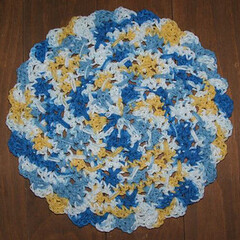 CROCHET DISHCLOTH FREE PATTERN ROUND - CROCHET STITCH