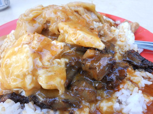 Hainanese Curry Rice (Close up)