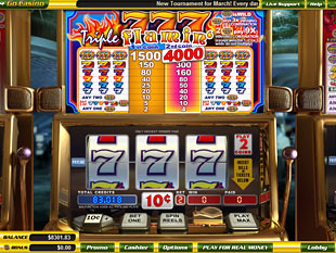 Triple Flaming 7s slot game online review