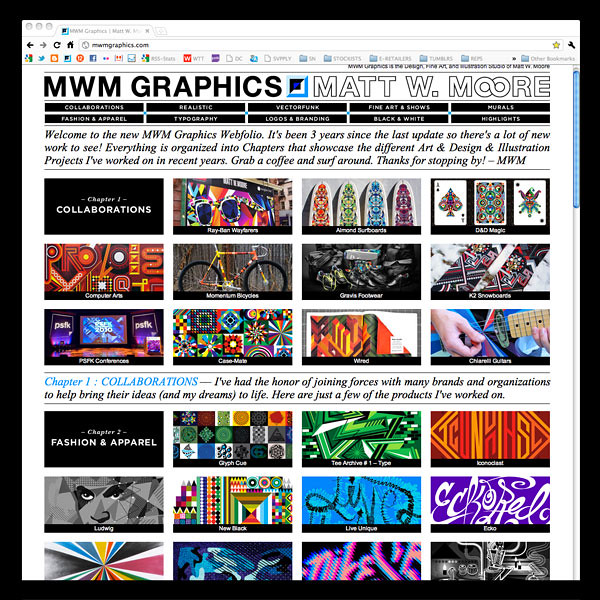 ▲ New 2011 MWM Graphics Webfolio.