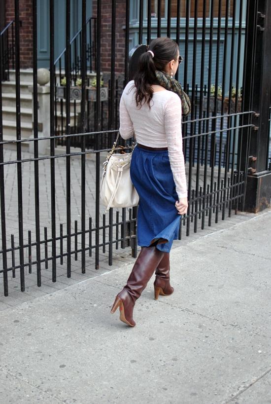 denim skirt-brunch3