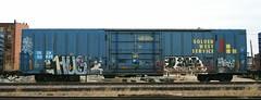 Huge/Life (quiet-silence) Tags: life railroad art train graffiti railcar huge boxcar graff losers freight dtc goldenwest kyt fr8 drgw gvsr tsl babyridge drgw50825