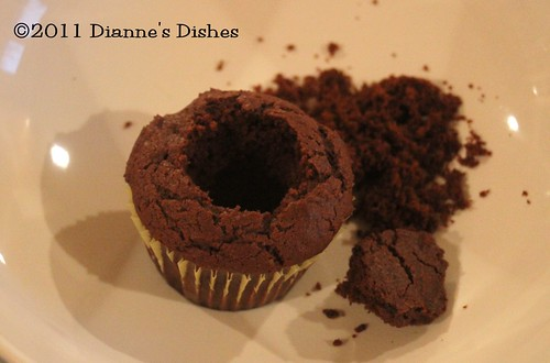 Glorious Chocolate Cream Filled Cupcakes: Hollowed