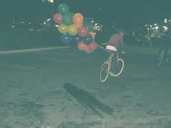 Up the movie fixed gear edition (eff0rt) Tags: up bike yellow vintage movie gear only fixed fixie ballons members skid goodlifeonhell