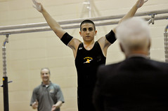 Andrews-High-School-Gymnastics (11) (Gary Middendorf) Tags: gymnastics vault parallelbar pommelhorse highbar floorexercise andrewshighschool andrewshighschoolgymnastics boygymnastics roddhaddad andreagahan