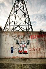 What can i do for you master (dprezat) Tags: street urban art collage painting stencil tag graf peinture aerosol bombe pochoir vitry sonyalpha700