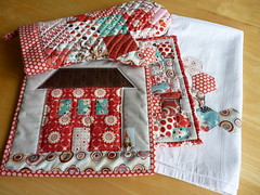 SUTK sent! (mjandco) Tags: pink red grey momo aqua moda towel ladybugs blush bliss wonderland fmf flutterby ovenmitt freebird potholders denyseschmidt fleamarketfancy hexies konaash