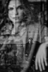 face to face (Barry Yanowitz) Tags: nyc newyorkcity blackandwhite bw ny newyork reflection reflections blackwhite manhattan soho nycity