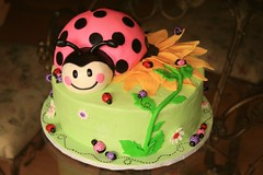 "Pink ladybug birthday cake • <a style=""font-size:0.8em;"" href=""http://www.flickr.com/photos/60584691@N02/5524763941/"" target=""_blank"">View on Flickr</a>"