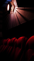 At the cinema! (Susan SRS) Tags: light red england cinema film movie flickr westsussex interior illumination panasonic seats cinematography compact crawley moviehouse cineworld flickrtoday lx3 flickraward p1010919 plushseats
