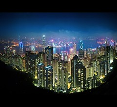 Victoria Peak, Hong Kong (d.r.i.p.) Tags: china panorama skyline architecture clouds skyscraper hongkong nikon asia soho central peak victoria hong kong drip architektur 24mm thepeak kowloon ifc 180 hkg victoriapeak bankofchina 2470mm