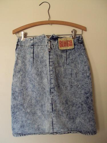 Bongo Stonewash Denim Skirt (back)