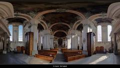 St. Gallen - Stiftskirche (Morgennebel) Tags: panorama church schweiz switzerland alt swiss empty leer stgallen stitched kloster stiftskirche sanktgallen
