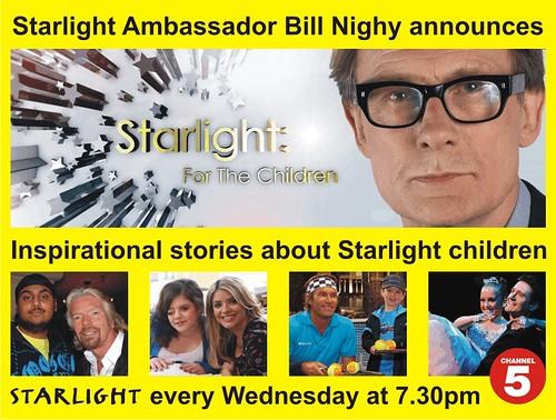Starlight Ambassador bill Nighy Announces S4TC