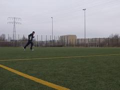 Laufen auf dem Sportplatz