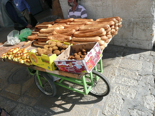 delicious breads in Jerusalem's Arab quarter