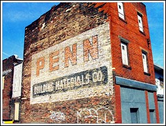 Pennsylvania ~ Pittsburgh Strip District (e r j k . a m e r j k a) Tags: signs building alley pittsburgh pennsylvania ghost penn allegheny brickad erjkprunczyk